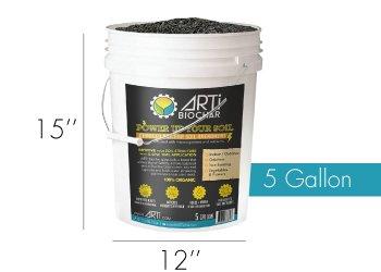 Medium Pale 5 Gallon biochar 3