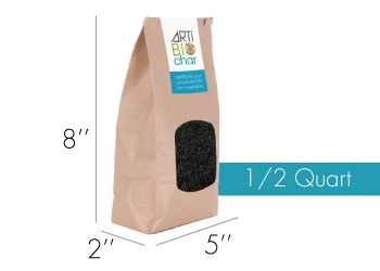 Small bag 1/2 quart biochar 3
